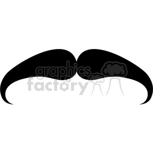 serious mustache clipart. Royalty.
