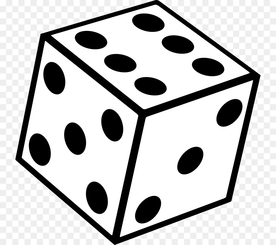 Download Free png Dice 30 Seconds Black & White Yahtzee Clip.