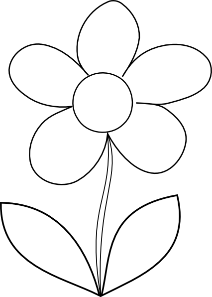 Clipart Of Flowers Black And White.