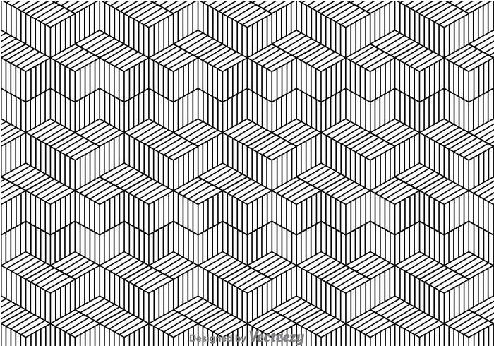 Black And White Line Pattern.