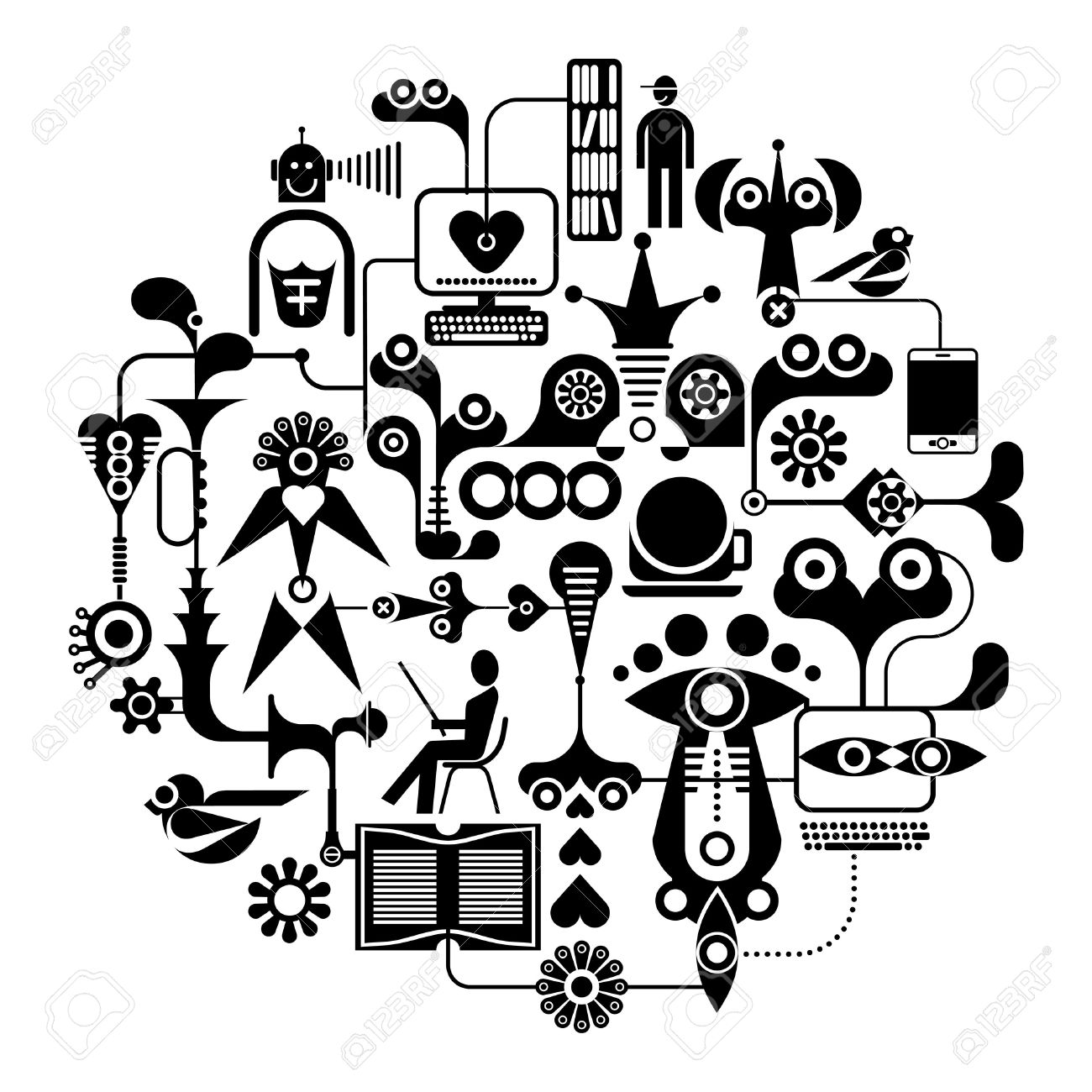 black network clipart