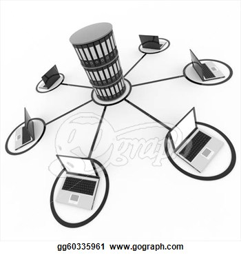 Computer Network Clipart.