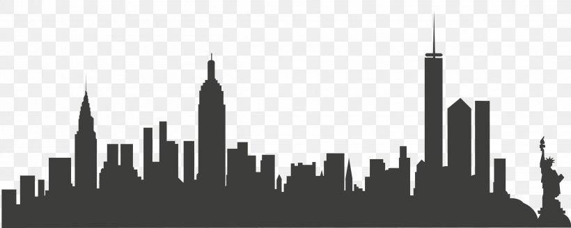 New York City Skyline Clip Art, PNG, 4813x1929px, New York.