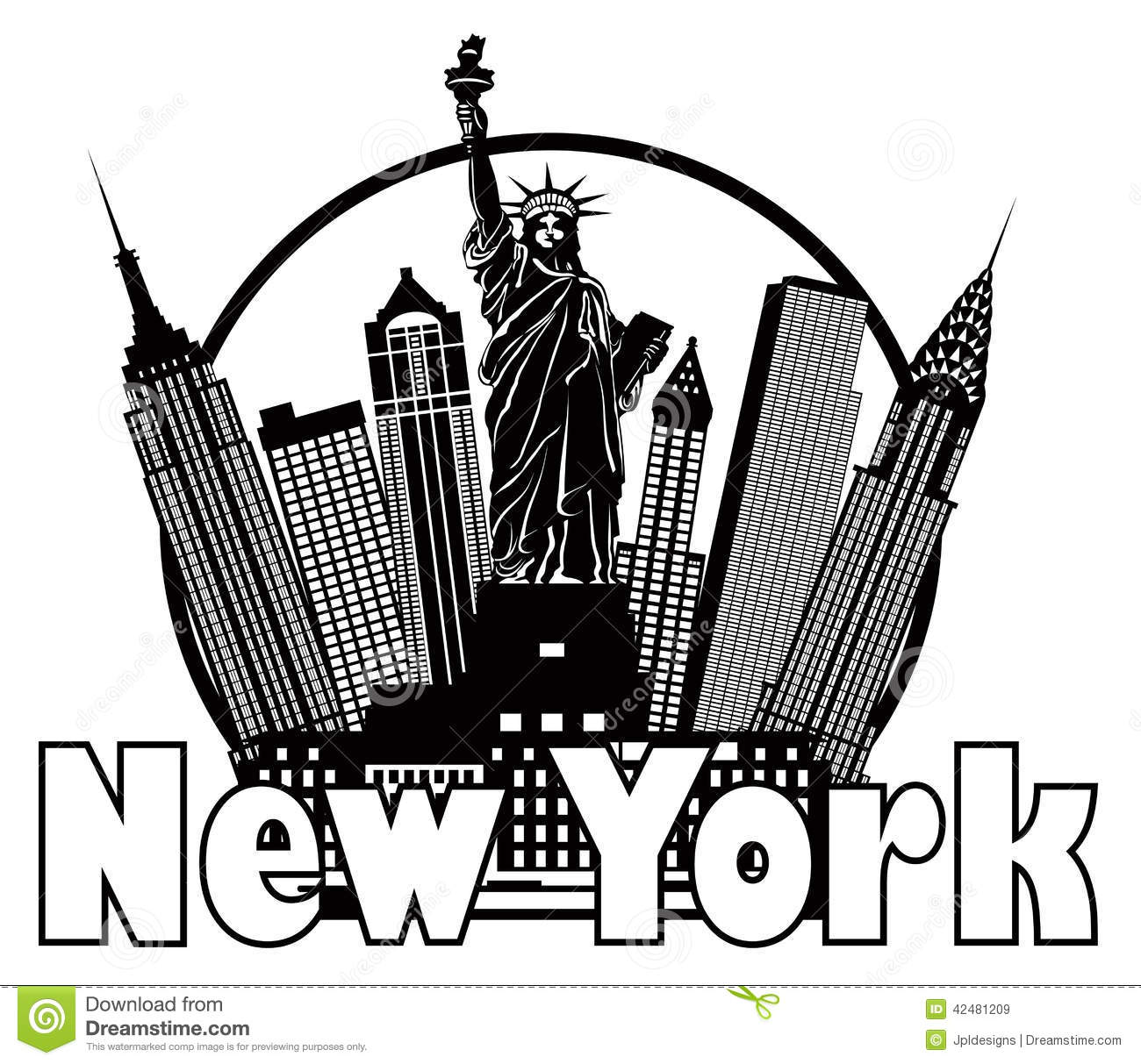 1731 New York City free clipart.
