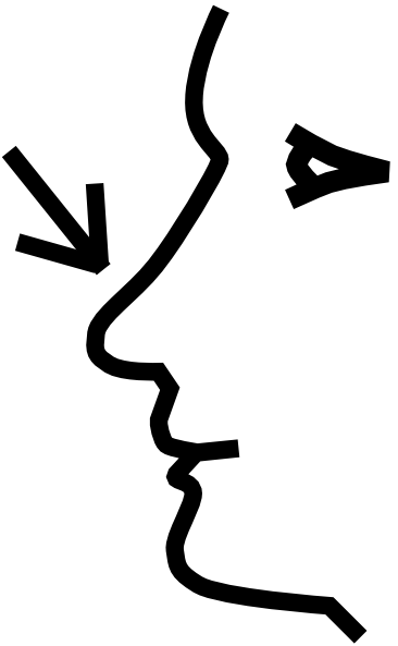 Black and white nose clipart.