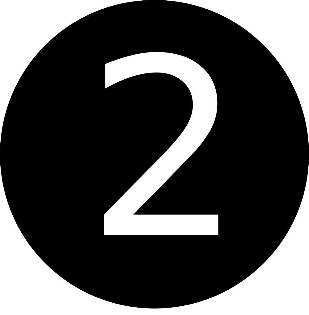 black number 2 clipart clipground