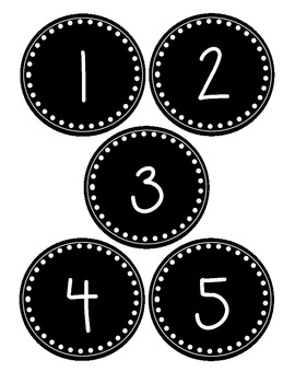 Black And White Numbers Clip Art & Worksheets.