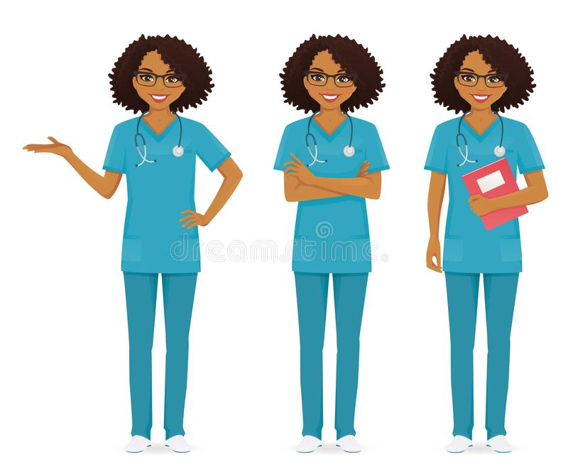 Black Nurse Stock Illustrations.