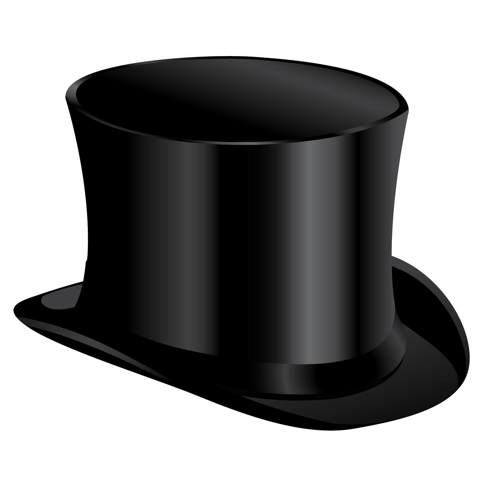 Black Cylinder Hat PNG Image.