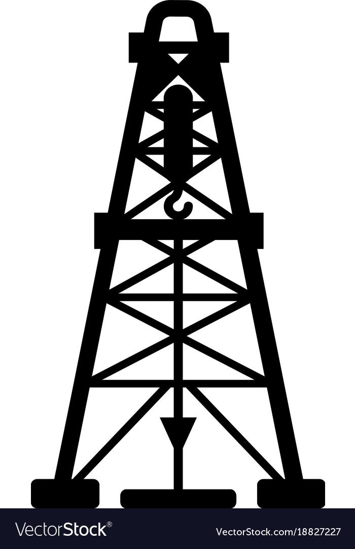 Oil derrick icon simple black style.