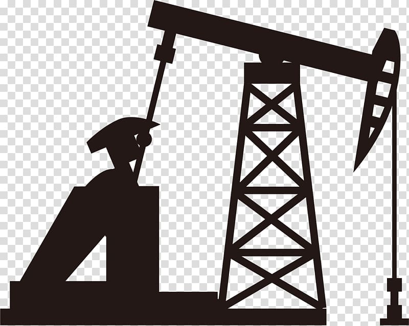 Oil well machine illustration, Petroleum Oil field Icon, Oil.