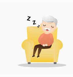 Cartoon Old Man Sleep Vector Images (88).
