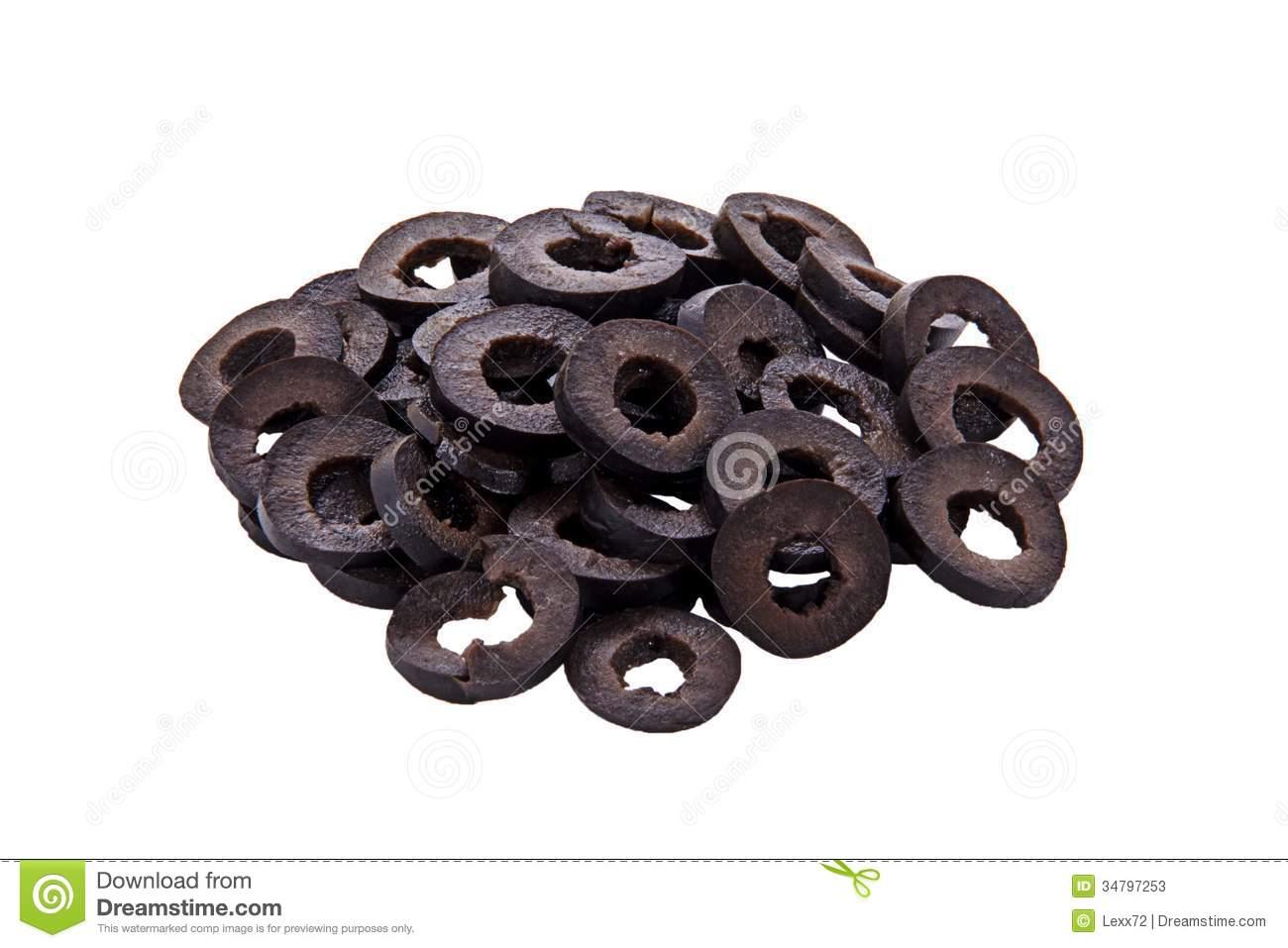 Sliced Black Olives Royalty Free Stock Images.
