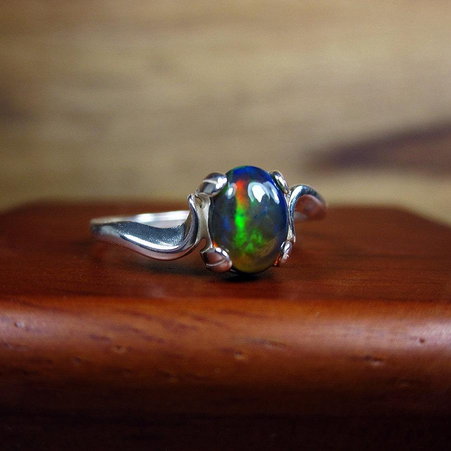 Black opal ring.