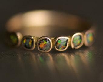 black opal engagement ring.