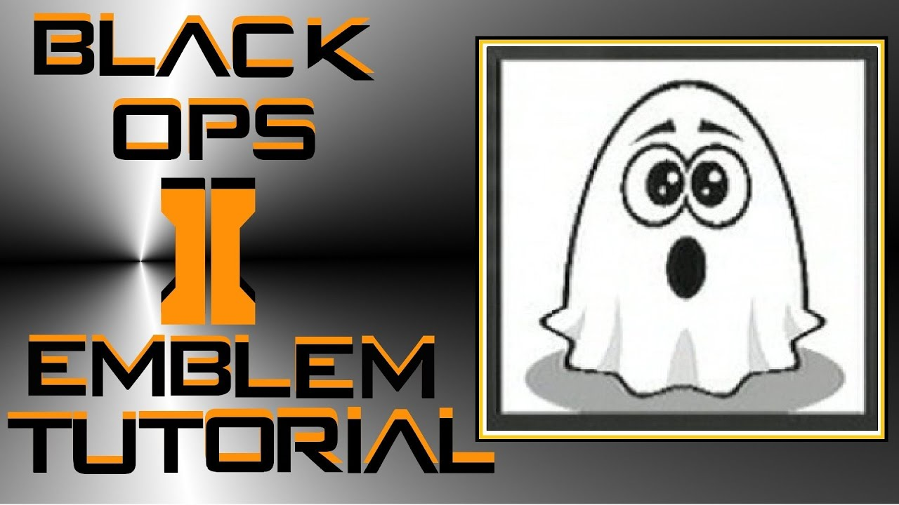 Call of Duty Black Ops 2 : Ghost Emblem Tutorial.