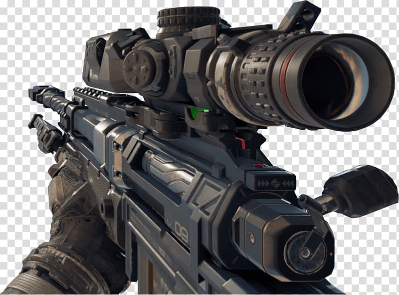 Black and gray rifle , Black Ops 3 Large Gun transparent background.