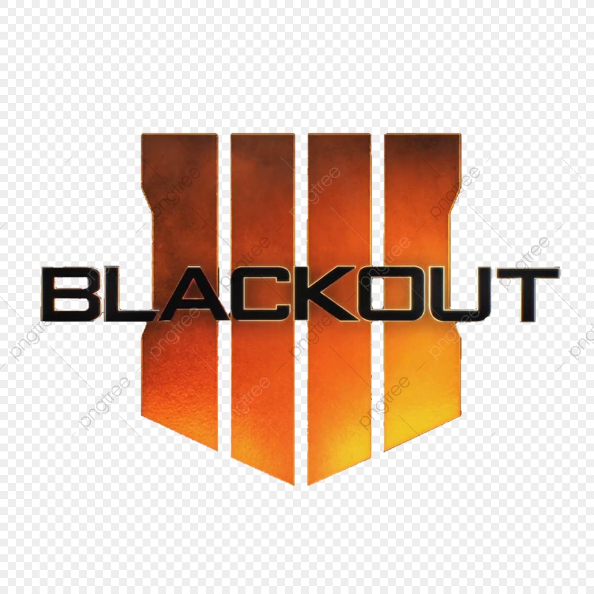 Call Of Duty Black Ops 4 Blackout Logo, Call Of Duty, Blackout Logo.