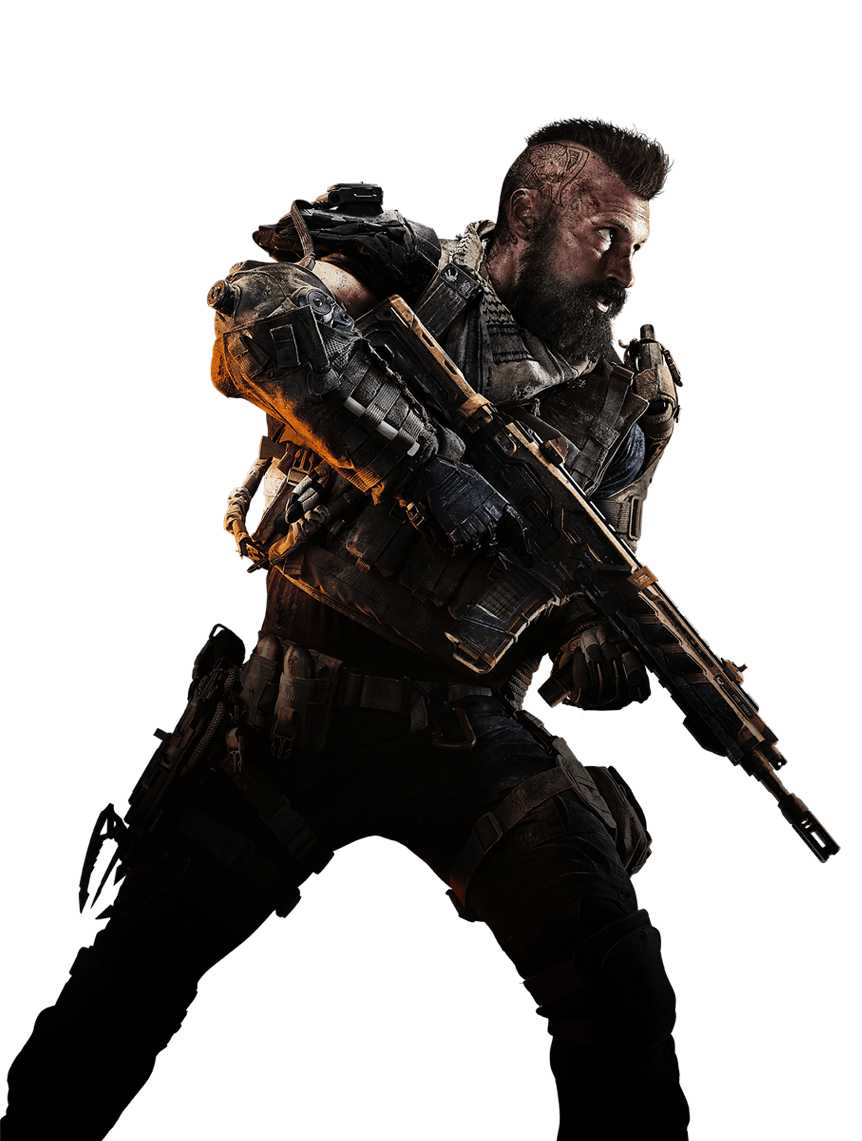 Call of Duty: Black Ops 4 Center Soldier PNG Image.