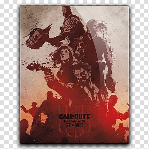 Icon Call of Duty Black Ops Zombies transparent background.