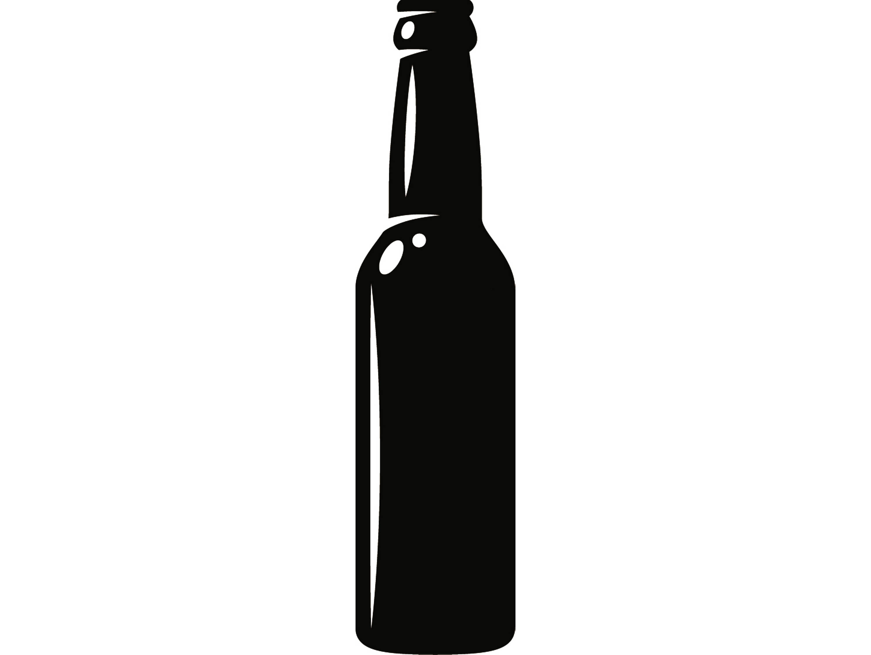 444 Beer Bottle free clipart.