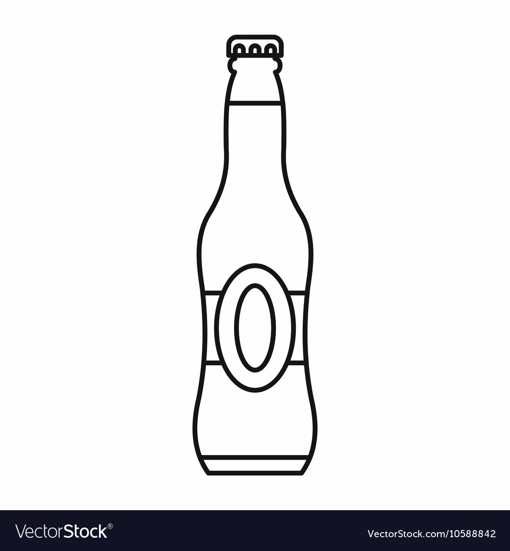 Bottle of beer icon outline style.