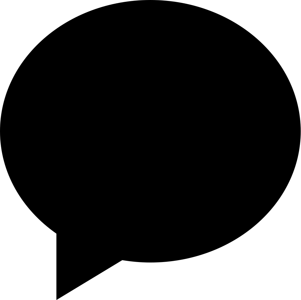 Black Oval Speech Bubble Svg Png Icon Free Download (#55843.