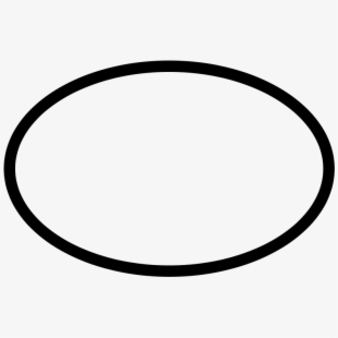 Oval Clipart Black And White.
