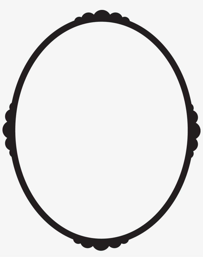 Black Oval Frame Png Svg Library Download.
