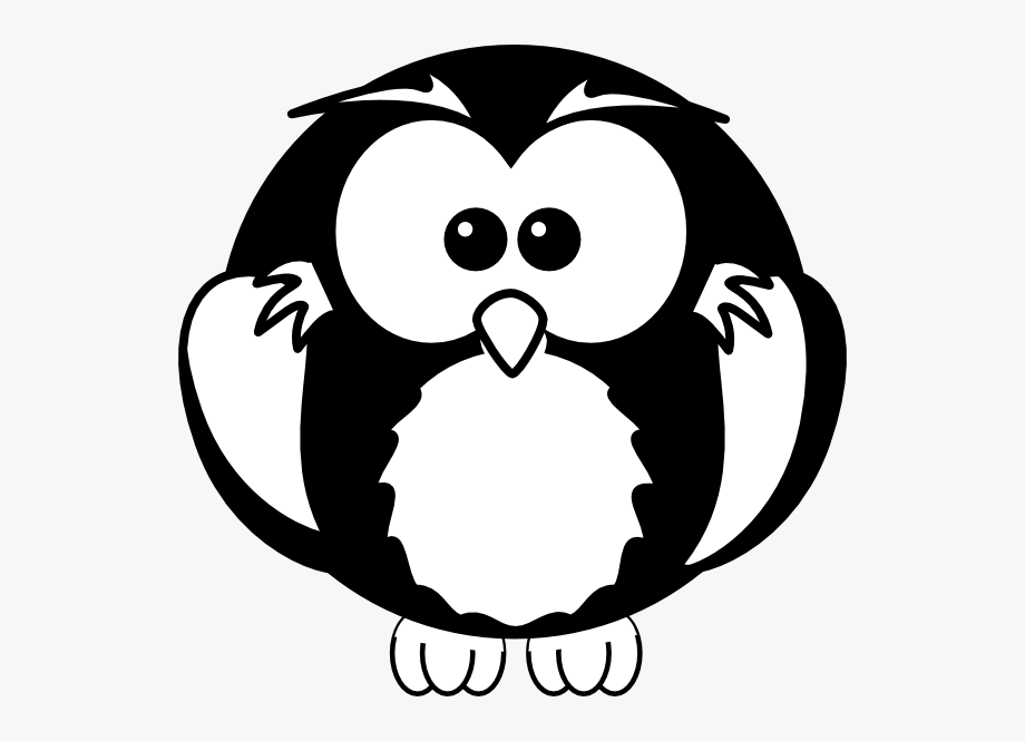 Owl Clipart Black And White.
