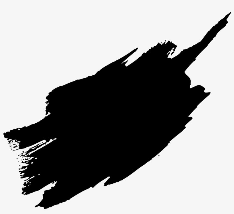 Black Paint Brush Stroke Png.
