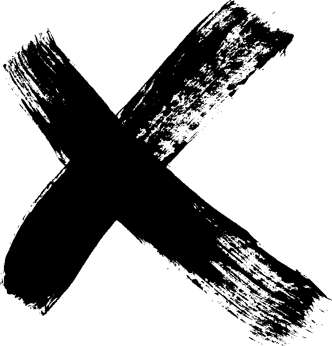12 Grunge X Brush Stroke (PNG Transparent).