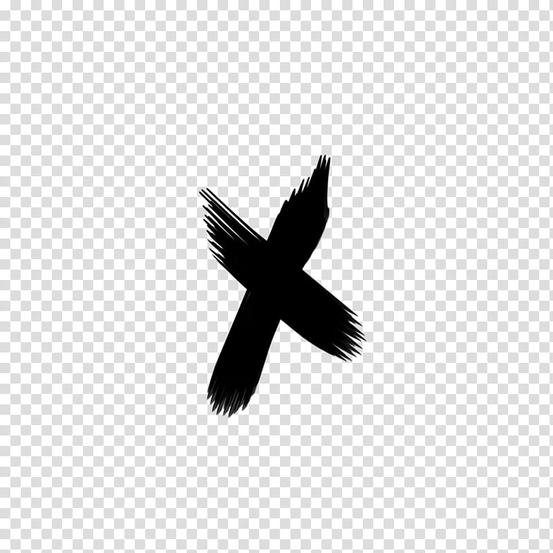 Brush s, black x illustration transparent background PNG.