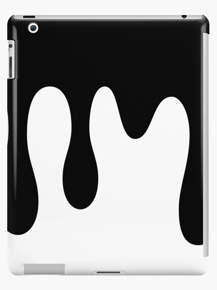 \'Black Paint Dripping\' iPad Case/Skin by Andreas Edrén.