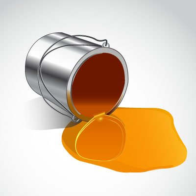 Spilled Paint Can Clipart.