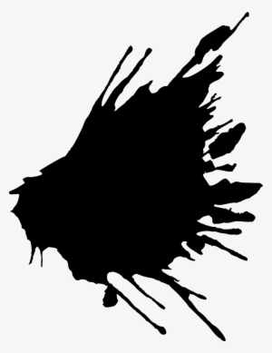Black Paint Splatter PNG Images.