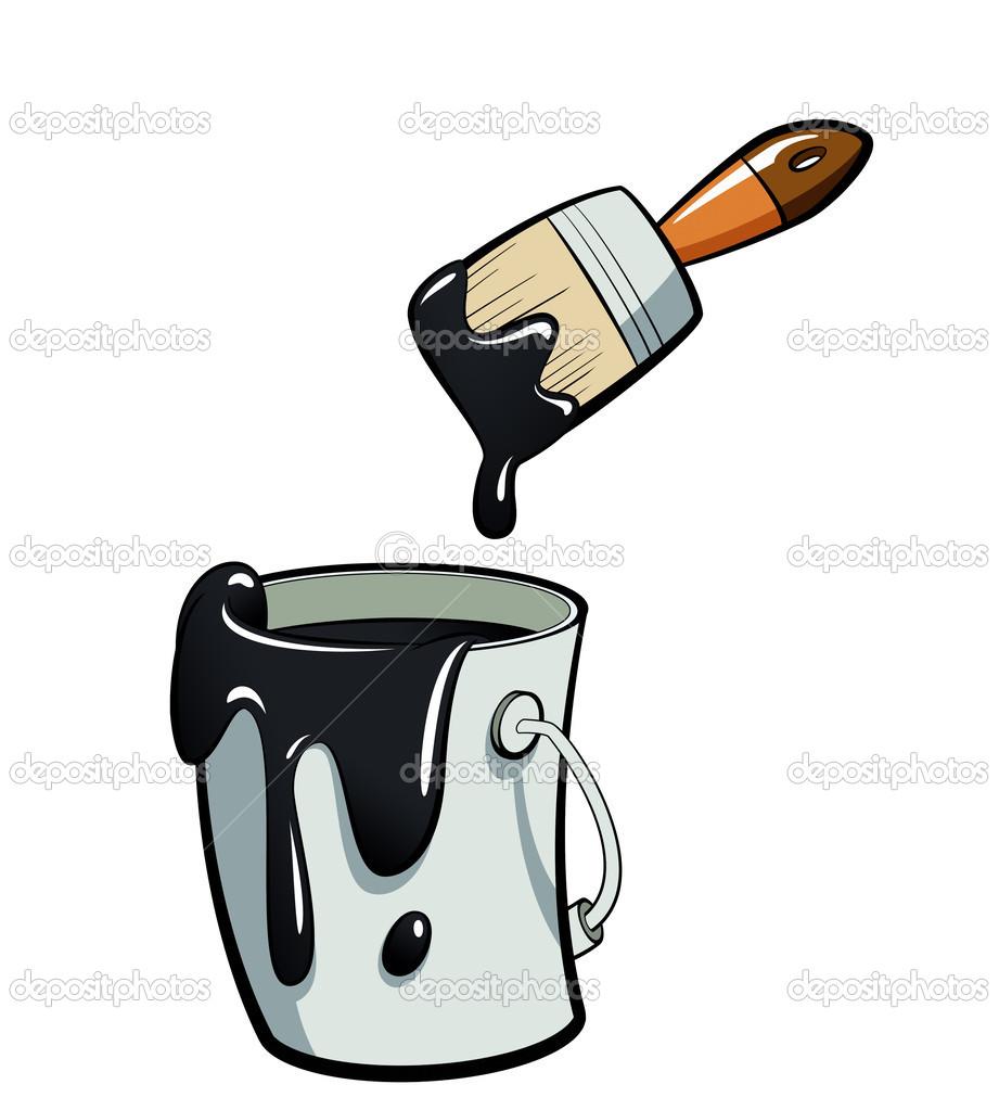 Black Paint Bucket Clip Art.