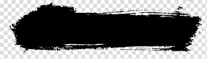 Black and white Brush Painting, brush stroke transparent background.