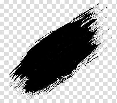 Brushset paint and scribble, black brush stroke transparent.