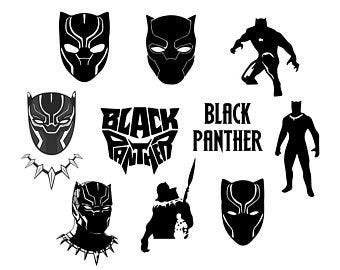 Black panther svg.