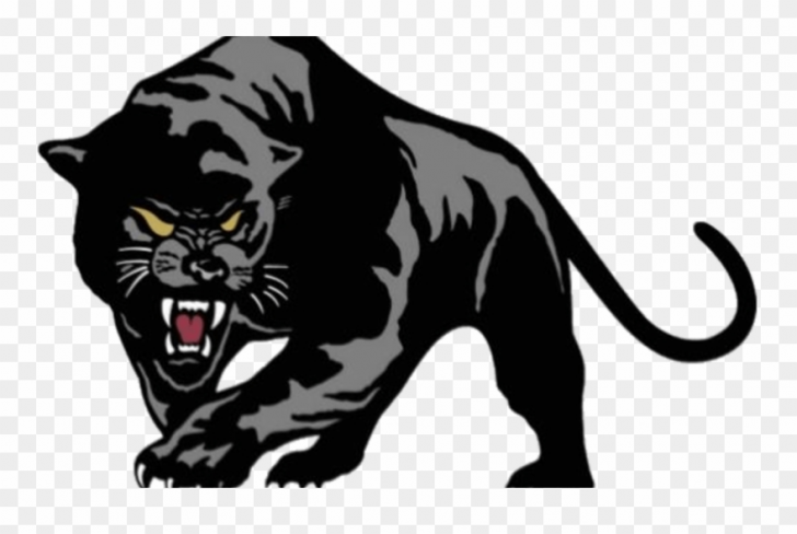 black panther clip art vector.