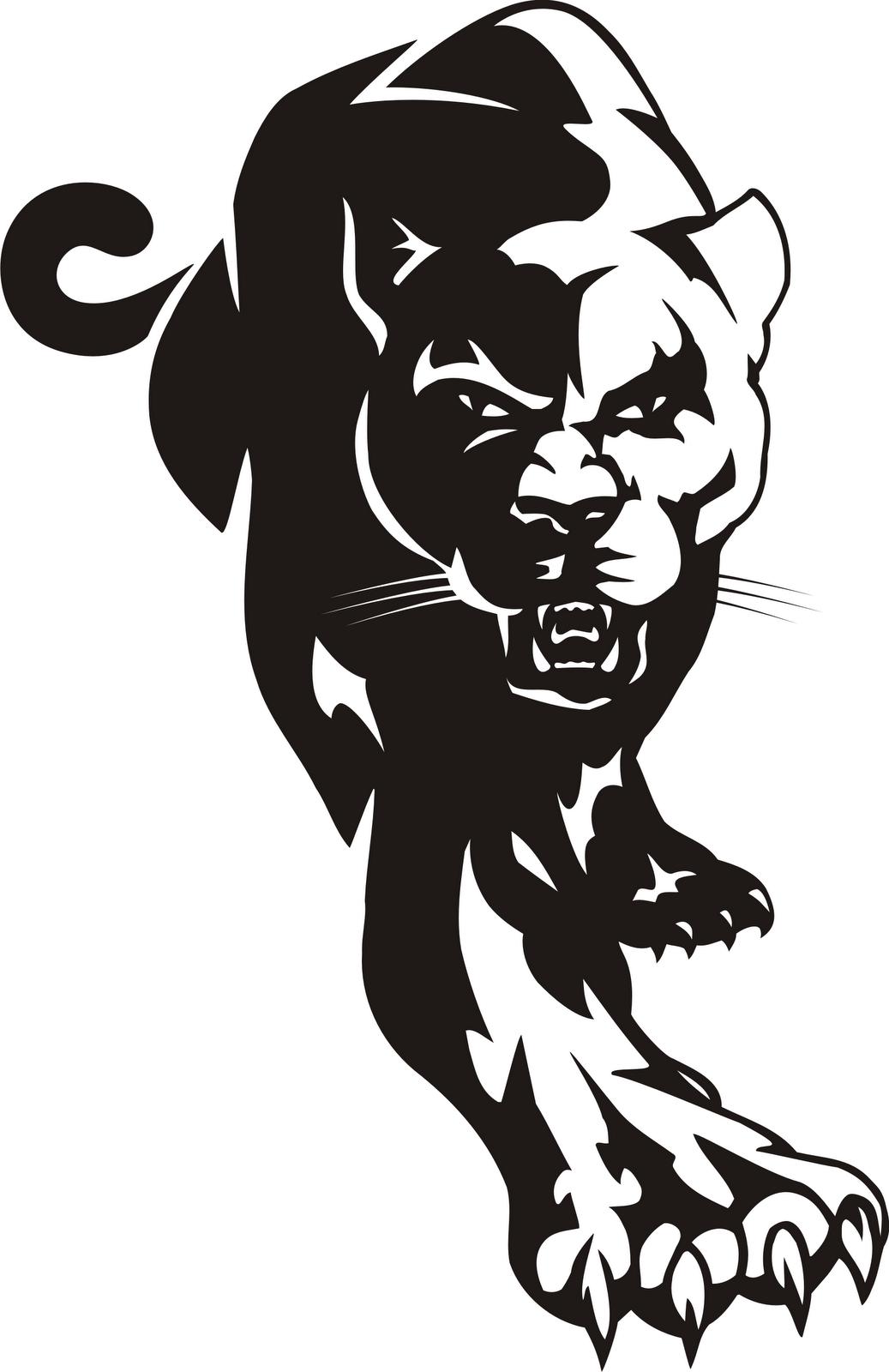 Black panther clip art.