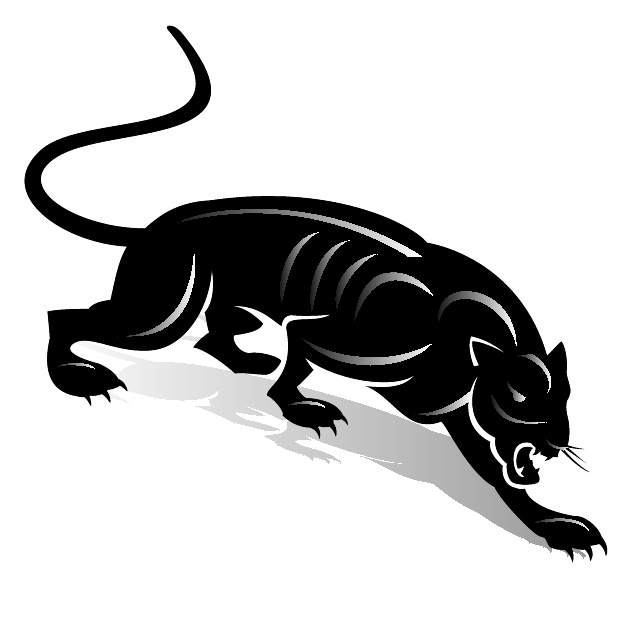 Black Panther Clip Art Free Vector.