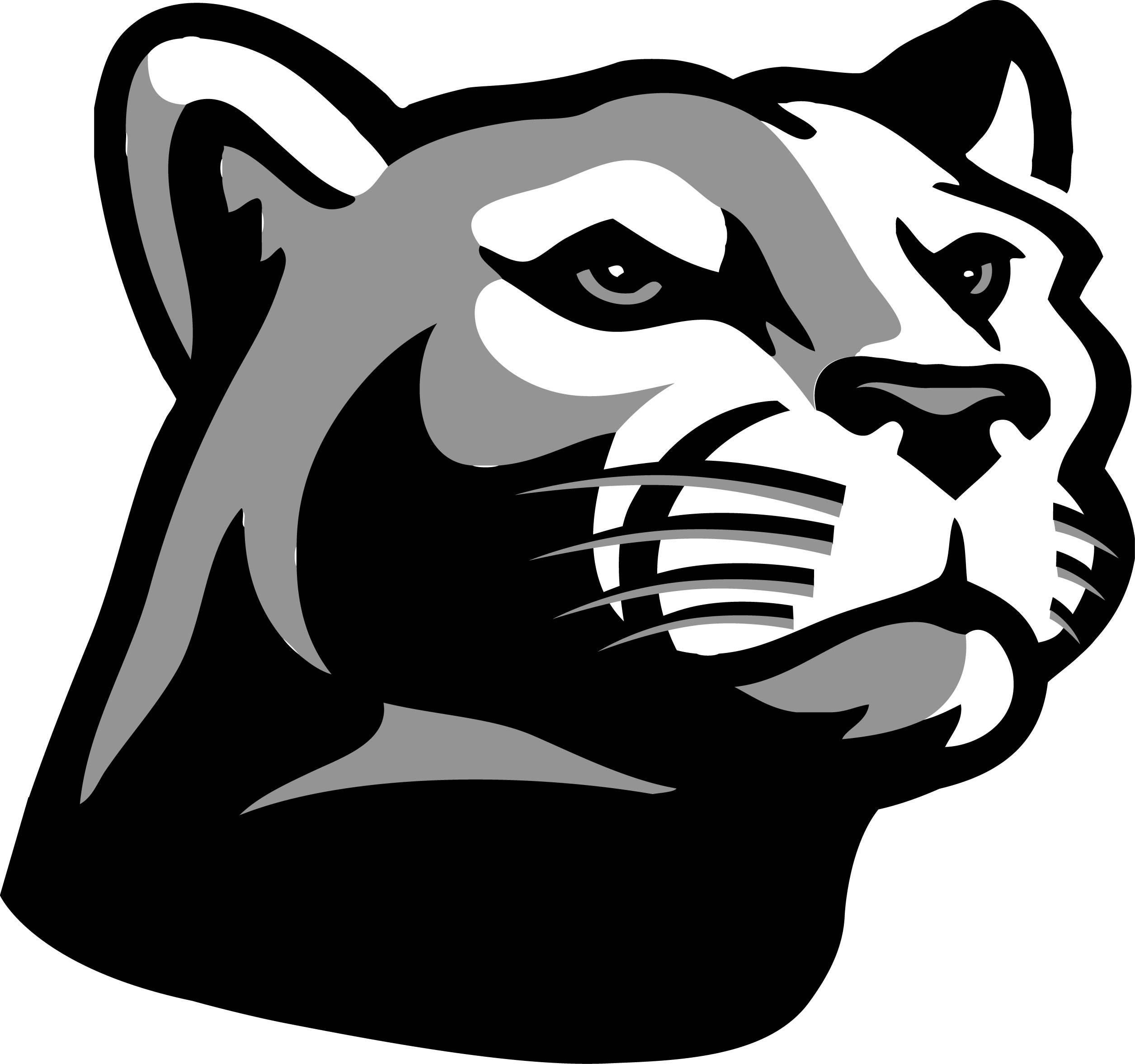 Black panther head clipart.