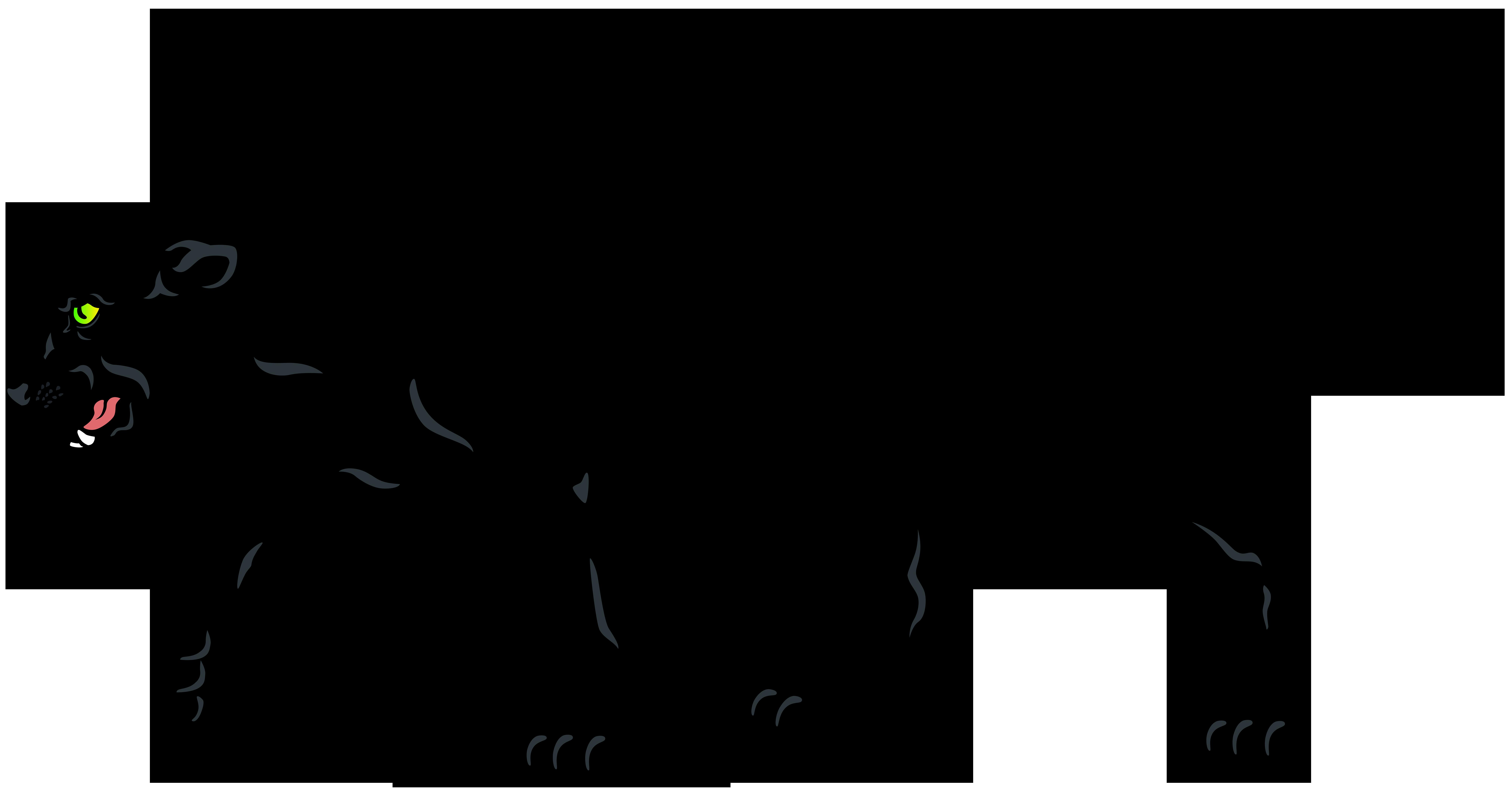 Black Panther PNG Clip Art Image.