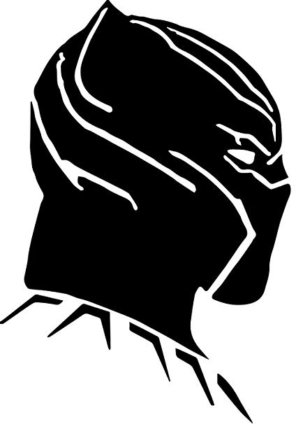 Amazon.com : Black Panther Side Profile From Marvel Comics 5.5