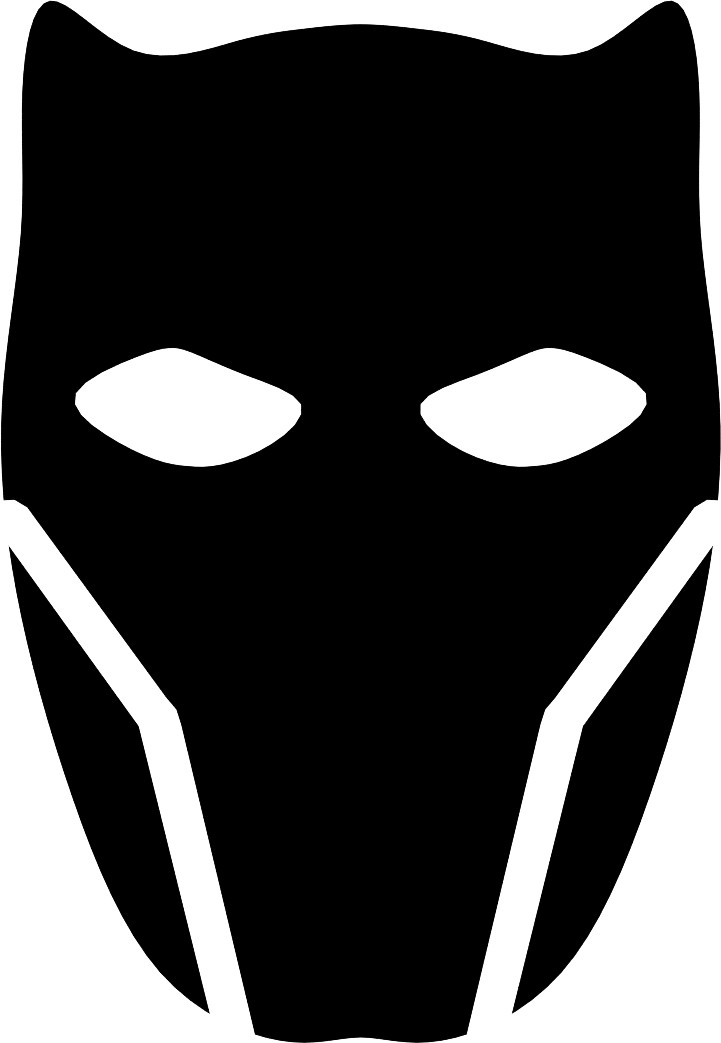 Entry #2 by gvox191 for Vector Black Panther face logo.