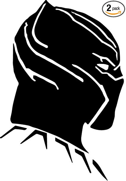 ANGDEST Panther FACE Black Panther (Black) (Set of 2) Premium Waterproof  Vinyl Decal Stickers for Laptop Phone Accessory Helmet Car Window Bumper  Mug.