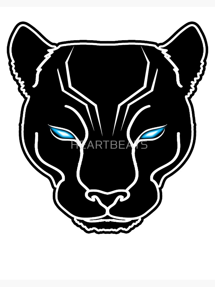\'Black Panther Face\' Art Board Print by HEARTBEATS.