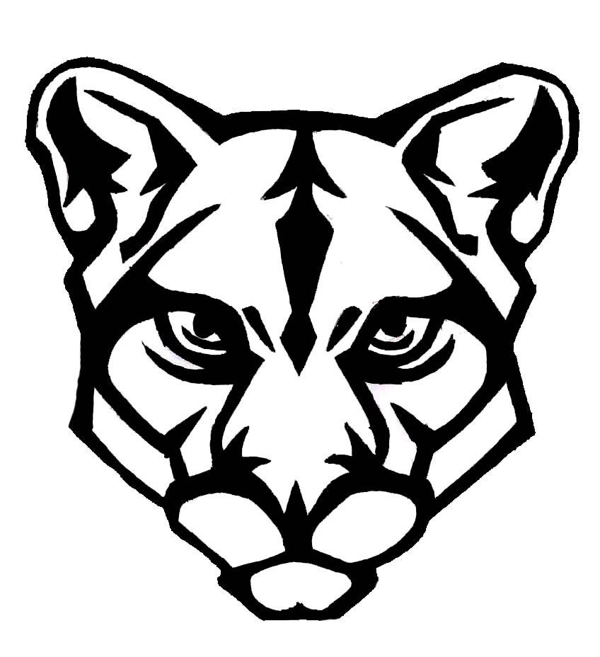 Free Panther Head Clipart Image.